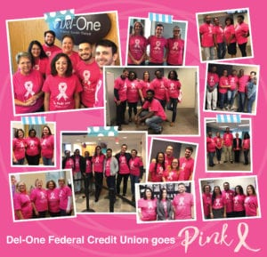 Del-One Federal Credit Union Goes Pink
