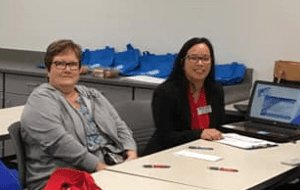 Del-One's Georgetown Branch Manager, Veronica Nhan-Nock attending a parent orientation meeting for Project SEARCH Nanticoke