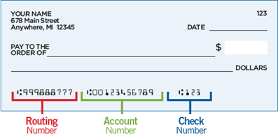 Illustration of a check