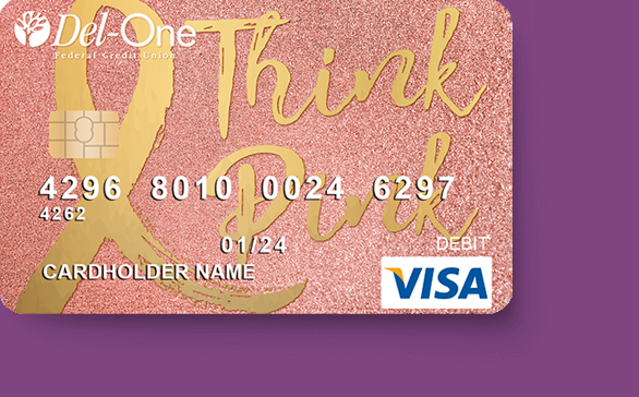 Customized debit card by Del-One FCU