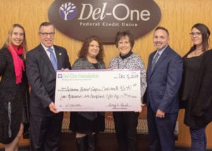 Del-One Foundation donation to the Delaware Breast Cancer Coalition