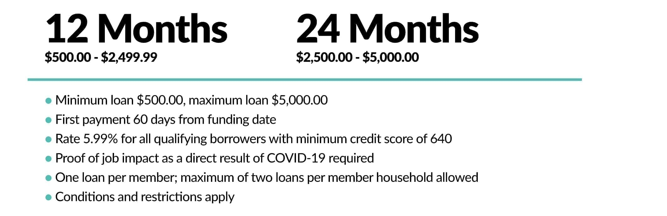 COVID Relief Loan details