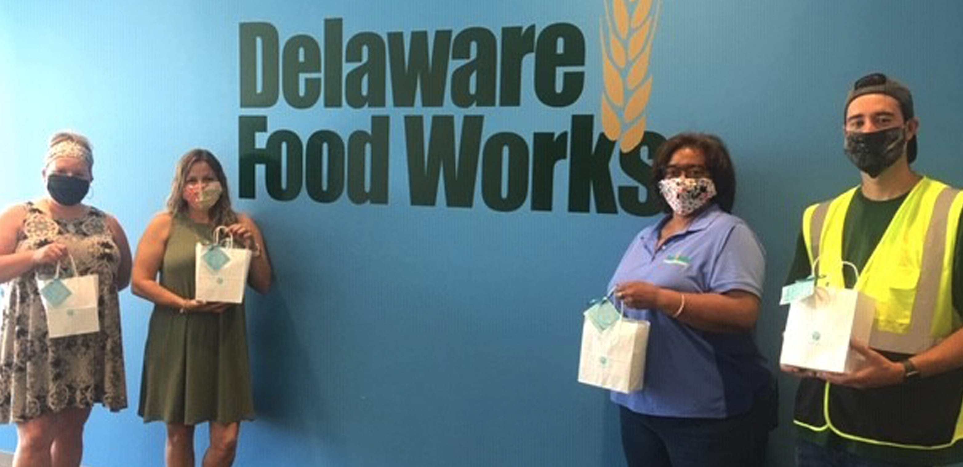 Del-One and the Food Bank of Delaware in Newark employees