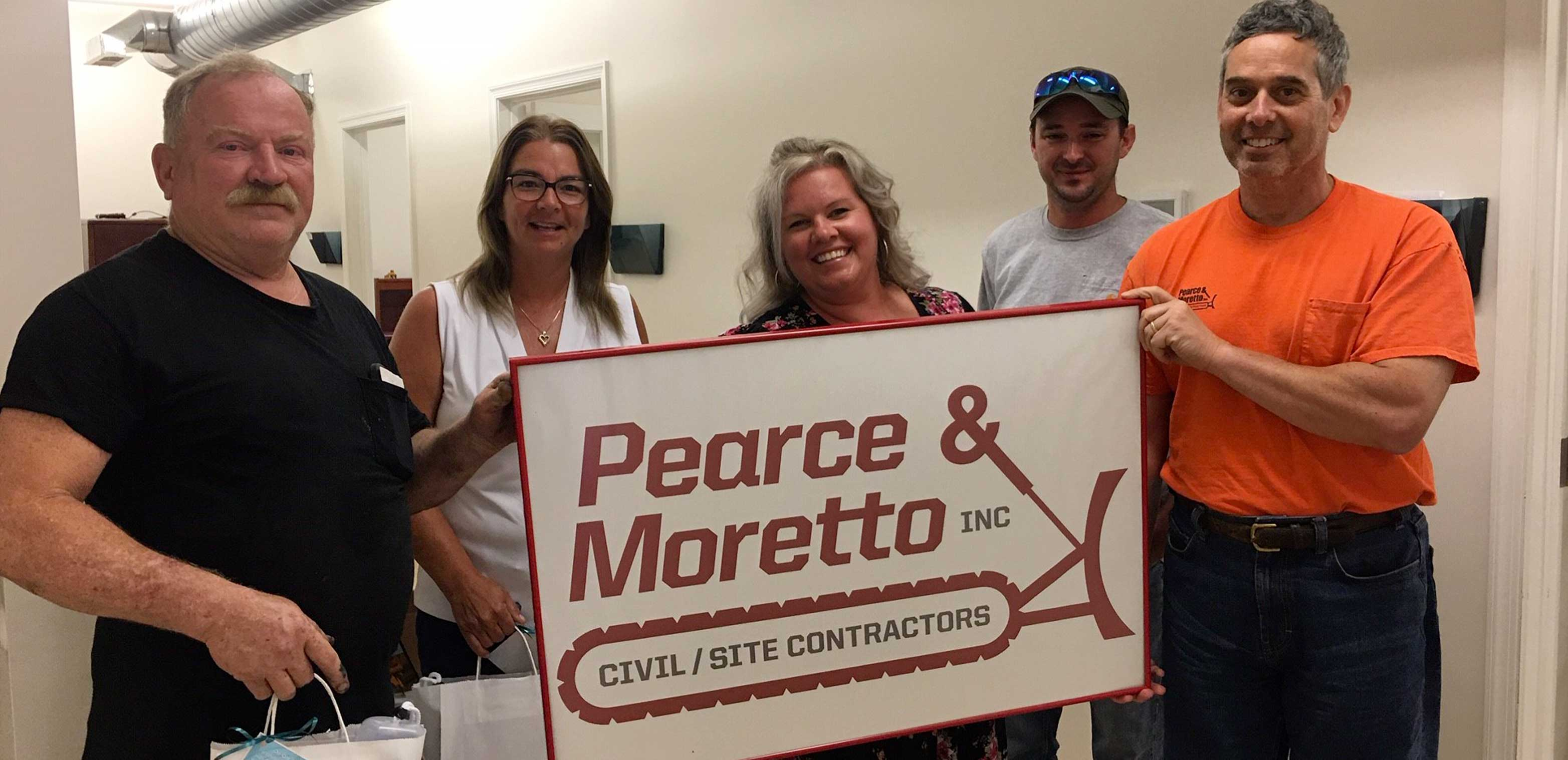 Ken, Marianne, Josh and Rob from Pearce & Moretto and Brandy from Del-One