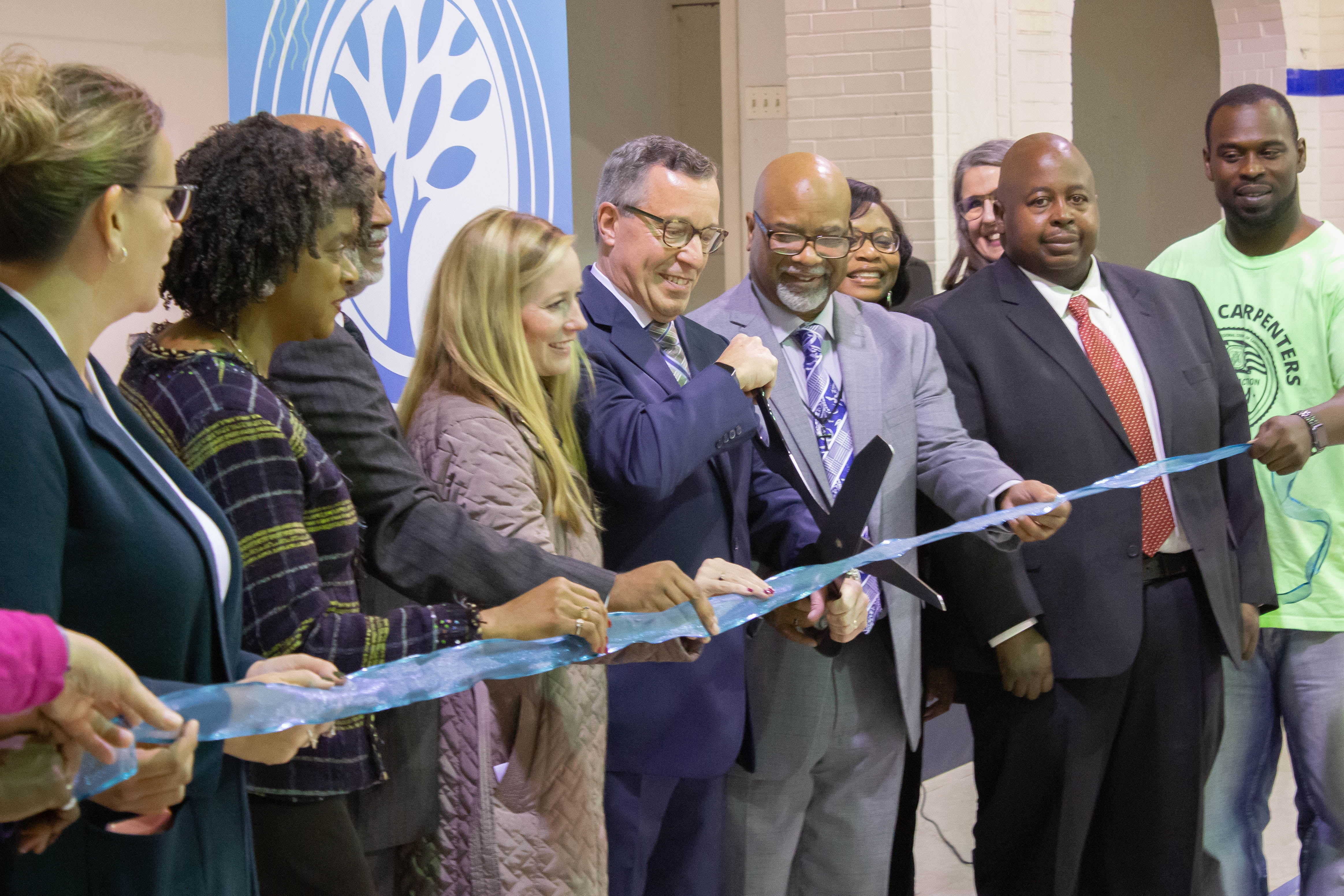 Del-One at the Rose Hill Community Center ceremony ribbon cutting